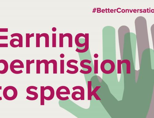 Earning permission to speak